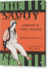 Design For The Front Cover Of 'the Savoy Complete In Three Volumes' Acrylic Print by Aubrey Beardsley