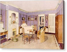 Design For The Interior Of A Bedroom Acrylic Print by Richard Goulburn Lovell