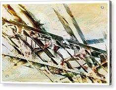 Design In Steel Acrylic Print by Davina Washington