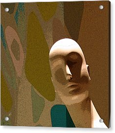 Design With Mannequin Acrylic Print by Ben and Raisa Gertsberg