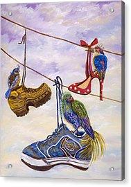 Designer Bird Nests Acrylic Print