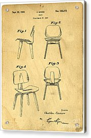 Designs For A Eames Chair Acrylic Print by Edward Fielding