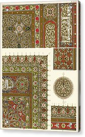 Designs From A Copy Of The  Koran Acrylic Print by Mary Evans Picture Library
