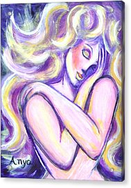 Acrylic Print featuring the painting Desire by Anya Heller