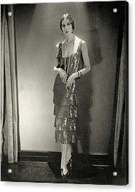 Desiree Lubowska Wearing A Chanel Dress Acrylic Print by Edward Steichen