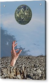 Acrylic Print featuring the digital art Desiring Another World by Angel Jesus De la Fuente