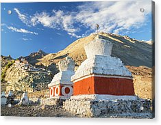 Deskit Monastery, Ladakh, India Acrylic Print by Peter Adams