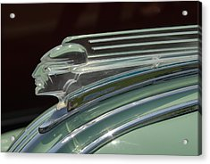 Acrylic Print featuring the photograph Desoto Hood Ornament  by Craig Perry-Ollila