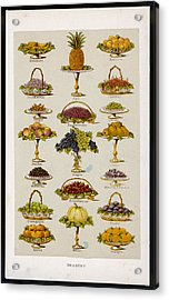 Dessert Fruits, Including  Ginger Acrylic Print by Mary Evans Picture Library