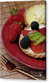 Dessert Tarts Acrylic Print by Amy Cicconi