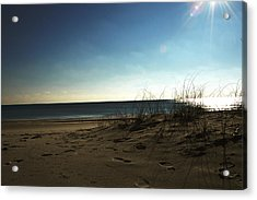 Destin Beach Sun Glare Acrylic Print