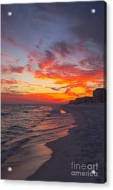 Destin Sunset Acrylic Print by Kay Pickens