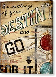 Destiny Acrylic Print by Janet  Kruskamp