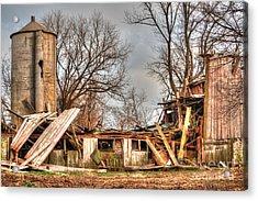 Destruction Barn Acrylic Print by Deborah Smolinske