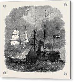 Destruction Of The Federal Merchantman Harvey Birch Acrylic Print by English School