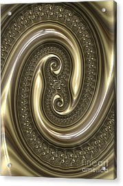 Detail From Repousse In Bronze Acrylic Print by John Edwards