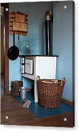 Detail Of An Old-fashioned Kitchen Acrylic Print by Halfdark
