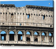 Detail Of Colosseum Facade Acrylic Print by Kiril Stanchev