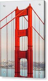 Detail Of Golden Gate Bridge, San Acrylic Print