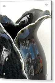 Detail Of Porcelain Petal Vase 1  Acrylic Print