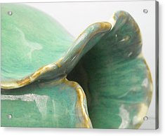 Detail Of Porcelain Petal Vase #4 Acrylic Print