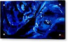 Detail Of Seeking Sleep-2 Acrylic Print by Kathy Peltomaa Lewis
