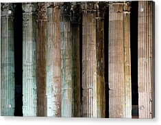 Detail Of Surviving Columns On Temple Acrylic Print by Krzysztof Dydynski