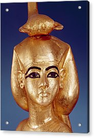 Detail Of The Goddess Selket From The Canopic Shrine, From The Tomb Of Tutankhamun Acrylic Print by Egyptian School