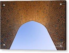 Detail Of The Kalon Mosque At Bukhara In Uzbekistan Acrylic Print by Robert Preston