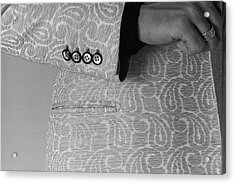 Detail Of The Sleeve Of A Paisley Jacket Acrylic Print
