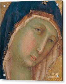 Detail Of The Virgin Mary Acrylic Print by Duccio di Buoninsegna