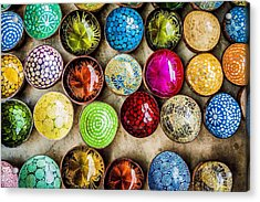 Detail Shot Of Colorful Bowls Acrylic Print by Nam Bui Anh / Eyeem