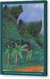 Details From On The North Shore Acrylic Print by Kenneth Grzesik