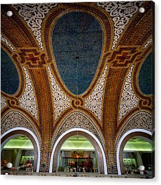 Details Of Tiffany Dome Ceiling Acrylic Print by Panoramic Images