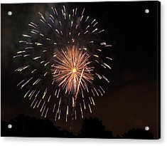Detroit Area Fireworks -10 Acrylic Print by Paul Cannon
