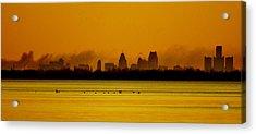 Detroit At Dawn Acrylic Print