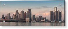 Detroit At Dusk Acrylic Print by Andreas Freund