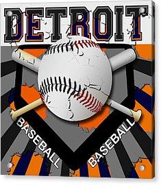 Detroit Baseball  Acrylic Print by David G Paul