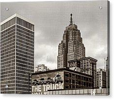 Detroit Cityscape - Penobscot Building Acrylic Print