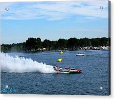 Detroit Hydroplane Race  Acrylic Print by Michael Rucker