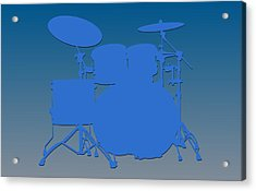 Detroit Lions Drum Set Acrylic Print
