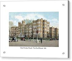 Detroit - Providence Hospital - West Grand Boulevard - 1926 Acrylic Print