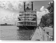 Detroit River Princess Black And White  Acrylic Print