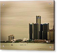 Detroit River Acrylic Print by Winnie Chrzanowski