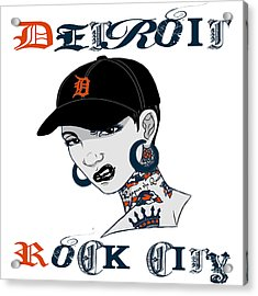 Detroit Rock City  Acrylic Print by Respect the Queen