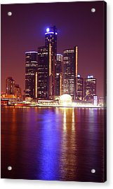 Detroit Skyline 5 Acrylic Print by Gordon Dean II