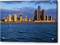 Detroit Skyline At Sunrise Acrylic Print