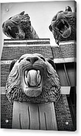 Detroit Tigers Comerica Park Tiger Statues Acrylic Print by Gordon Dean II