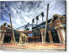 Detroit Tigers Stadium Entrance Acrylic Print by Shawn Everhart