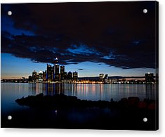 Detroit Twilight Acrylic Print by Cale Best